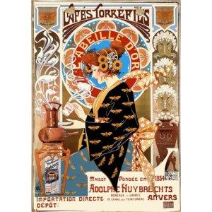 Café L'Abeille D'Or Ξύλινος Vintage Πίνακας 20 x 30 cm
