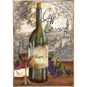 Café Toscano -Ξύλινος  Πίνακας Χειροποίητος 20 x 30 cm