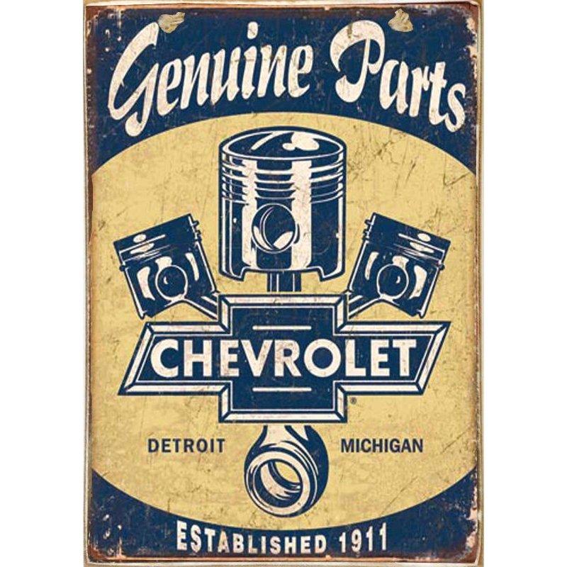 Chevrolet -Ξύλινος  Πίνακας Χειροποίητος 20 x 30 cm