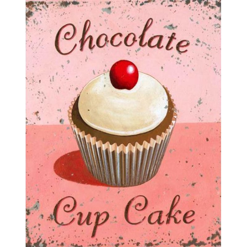 Chocolate Cup Cake -Πίνακας Χειροποίητος