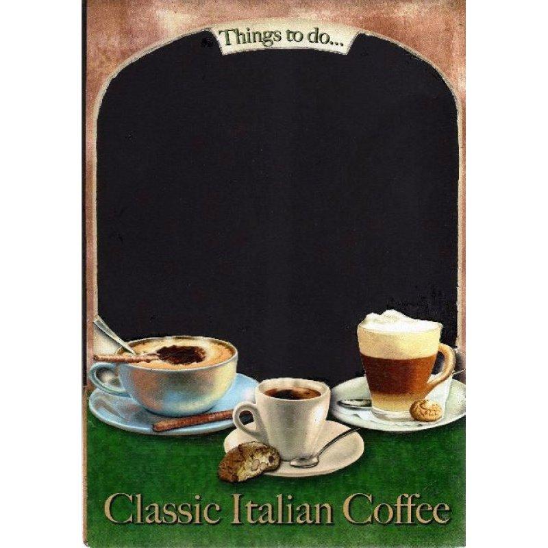 Classic Italian Coffee - Χειροποίητος Μαυροπίνακας 20X30 εκατοστά
