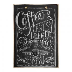 Coffee - Ξύλινος Πίνακας Μαύροπίνακας 20 x 30 cm