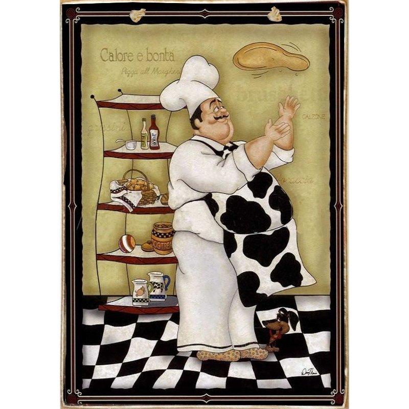 Cook -Ξύλινος  Πίνακας Χειροποίητος 20 x 30 cm