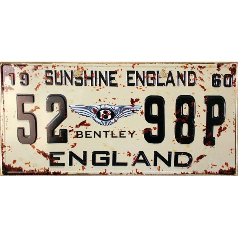 England - Ξύλινος  Πίνακας Χειροποίητος 13 x 26 cm