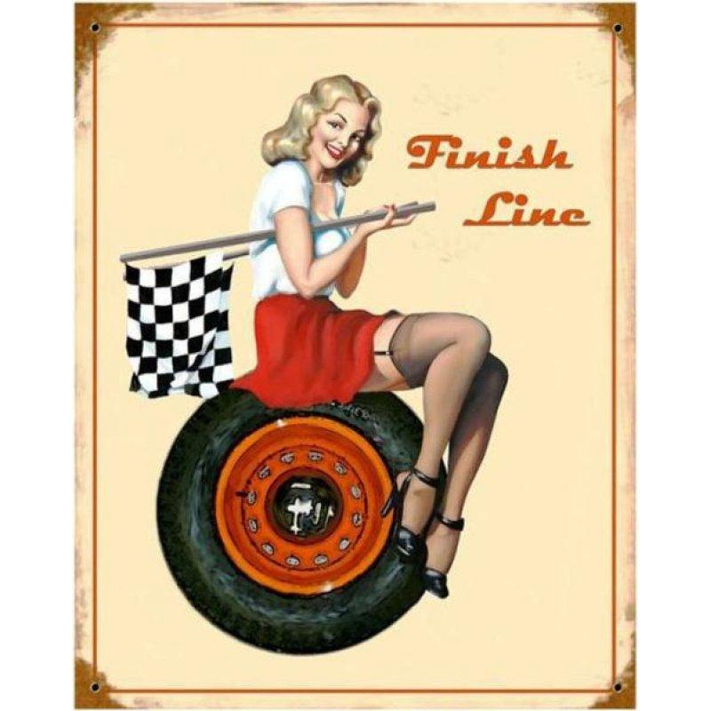 Finish line - Vintage Πίνακας Χειροποίητος