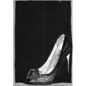 Γόβα στιλέτο - Χειροποίητος Μαυροπίνακας 20X30 εκατ&omicr
