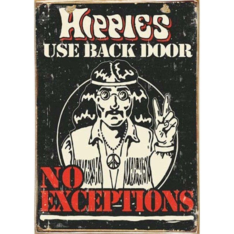 Hippies -Ξύλινος  Πίνακας Χειροποίητος 20 x 30 cm