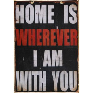 Home Is ... - Ξύλινος Πίνακας  Xειροποίητος 20 x 30 cm