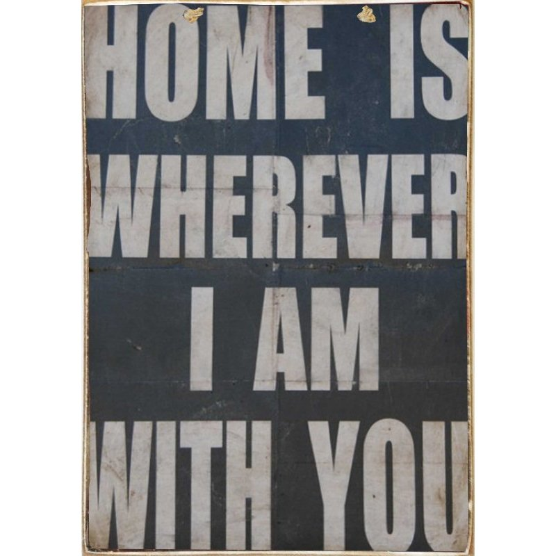 Home Is Wher... - Ξύλινος Πίνακας  Μαυροπίνακας 20 x 30 cm