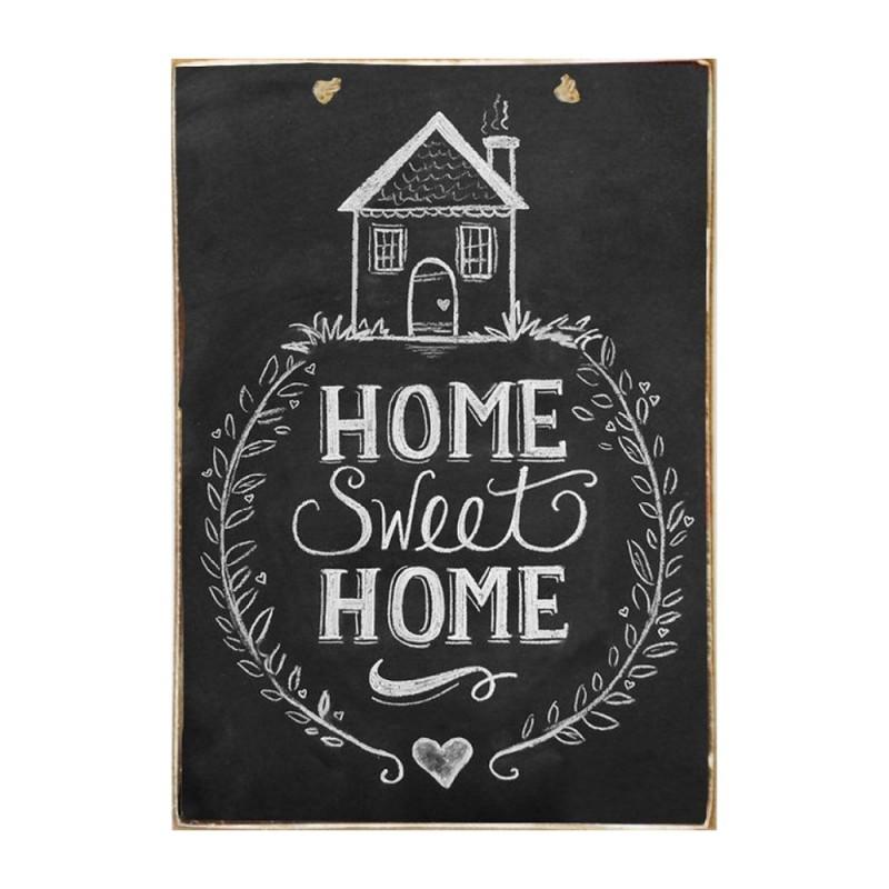Home Sweet Home - Ξύλινος Πίνακας Μαύροπίνακας 20 x 30 cm