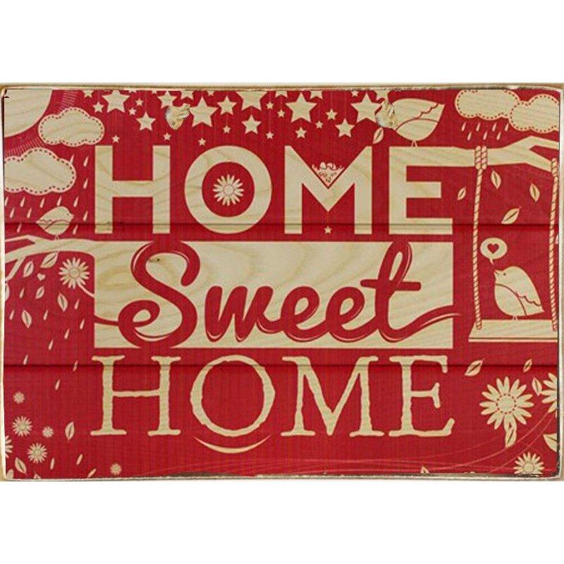 Home Sweet Home - Ξύλινος Πίνακας Xειροποίητο 20 x 30 cm