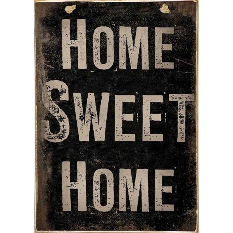 Home Sweet Home -Ξύλινος  Πίνακας Χειροποίητος 20 x 30 cm