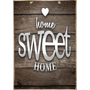 Home Sweet Home - Ξύλινος Πίνακας Χειροποίητος 20 x 30 cm