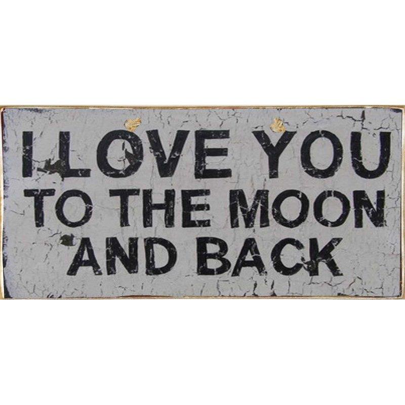 I Love You - Ξύλινος  Πίνακας Χειροποίητος 13 x 26 cm