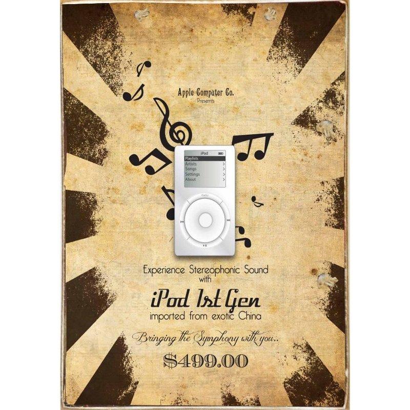 iPod Vintage -Ξύλινος  Πίνακας Χειροποίητος 20 x 30 cm
