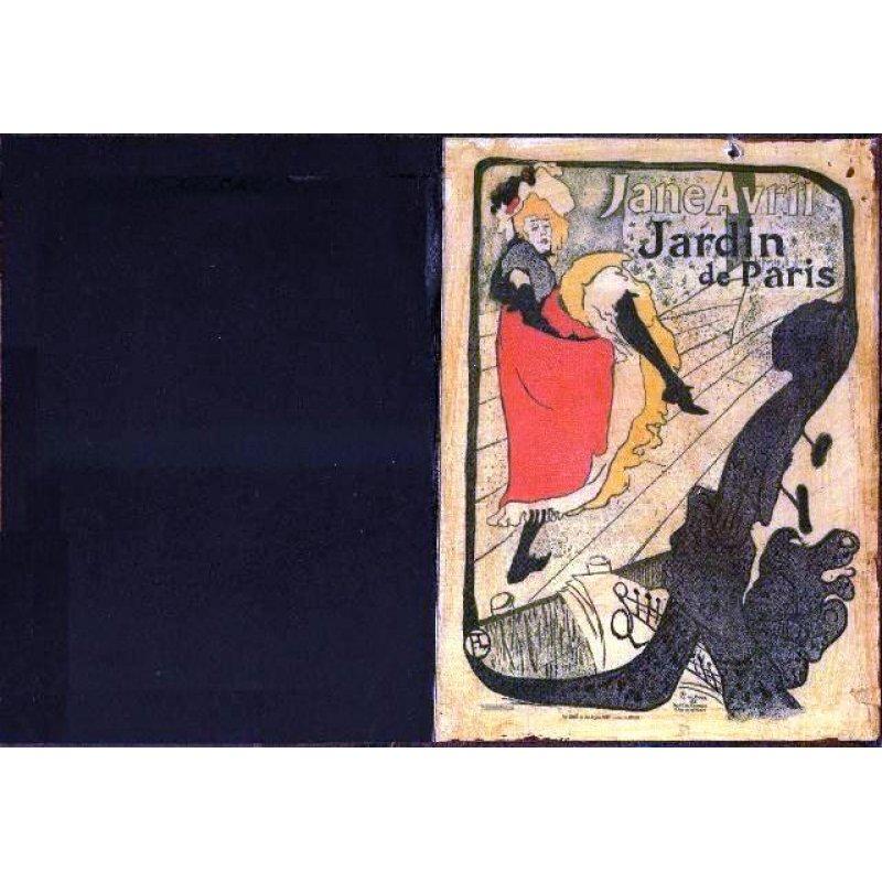 Jardin de Paris - Χειροποίητος Μαυροπίνακας 20X30 εκατοστά