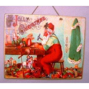 Jolly Christmas Xειροποίητο Χριστουγεννιάτικο ταμπελάκι