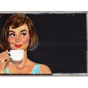 Καφέ? - Χειροποίητος Μαυροπίνακας 20X30 εκατοστά