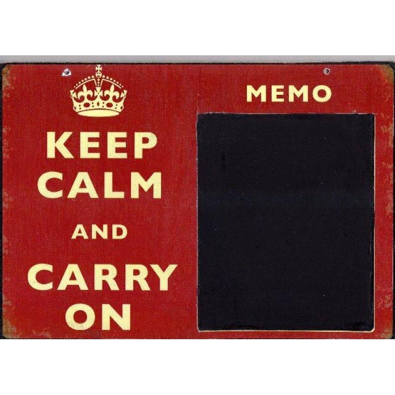 Keep Calm - Χειροποίητος Μαυροπίνακας 20X30 εκατοστά