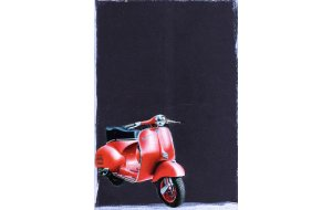 Κόκκινη Vespa - Χειροποίητος Μαυροπίνακας 20X30 εκατοστά