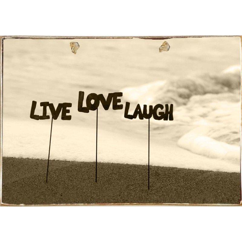 Live Laugh Love-Ξύλινος  Πίνακας Χειροποίητος 20 x 30 cm