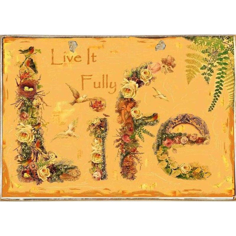 Life-Ξύλινος  Πίνακας Χειροποίητος 20 x 30 cm