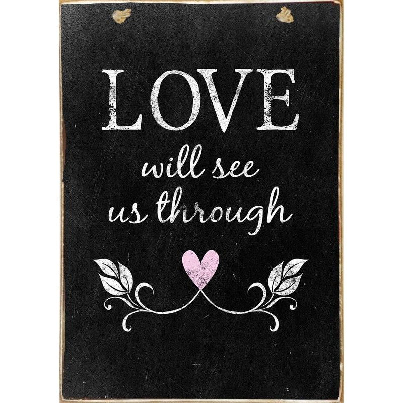 Love -Ξύλινος  Πίνακας Μαυροπίνακας 20 x 30 cm