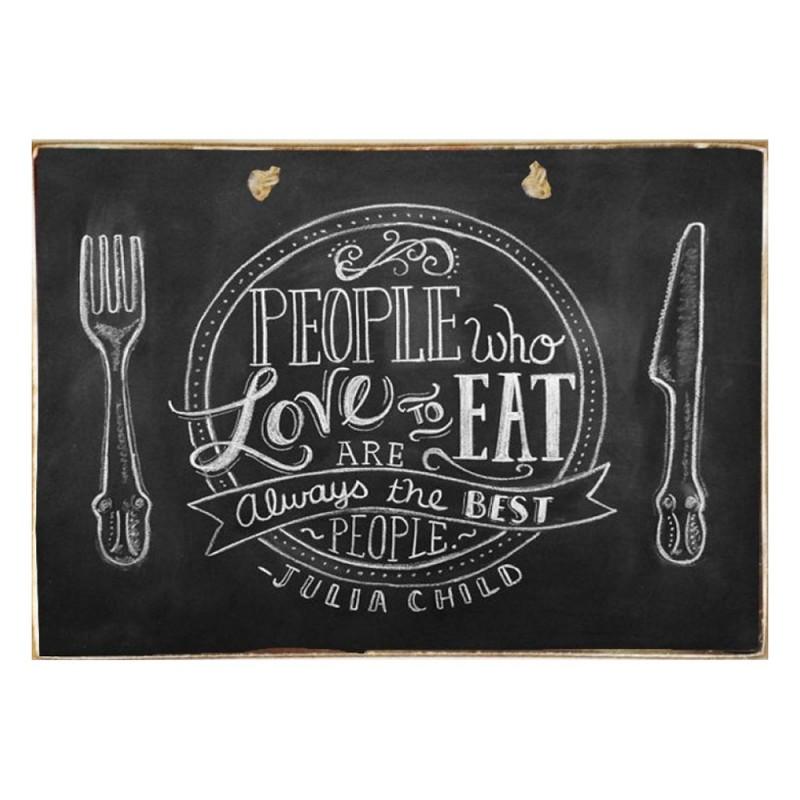 Love To Eat - Ξύλινος Πίνακας Μαύροπίνακας 20 x 30 cm