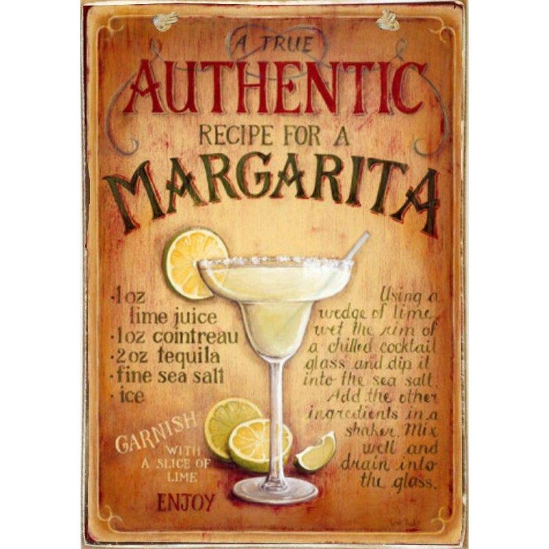Margheritas -Ξύλινος  Πίνακας Χειροποίητος 20 x 30 cm