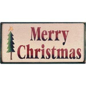 Merry Christmas - Xειροποίητο Χριστουγεννιάτικο ταμπελάκι με δεντράκι