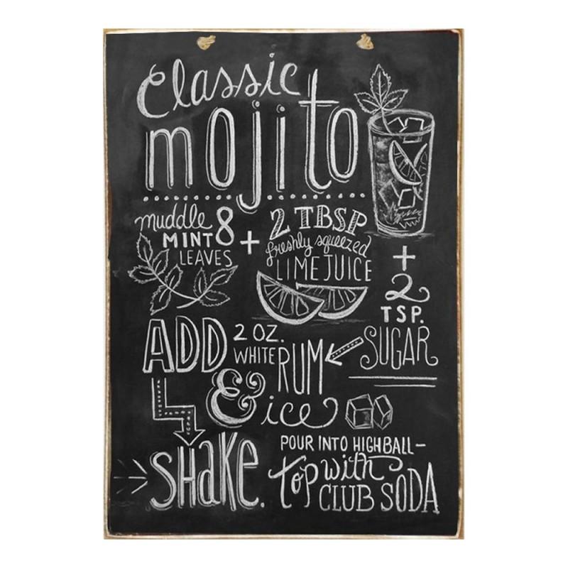 Mojito - Ξύλινος Πίνακας Μαύροπίνακας 20 x 30 cm