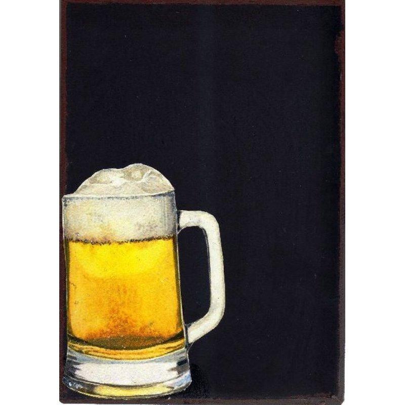 Μπύρα Βαρέλι - Χειροποίητος Μαυροπίνακας 20X30 εκατοστά