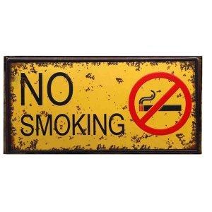 No smoking industrial χειροποίητος ξύλινος πίνακας 26x13 εκ