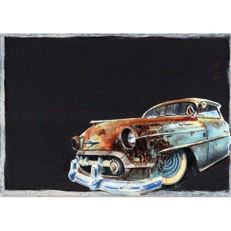 Old Car - Χειροποίητος Μαυροπίνακας 20X30 εκατοστά