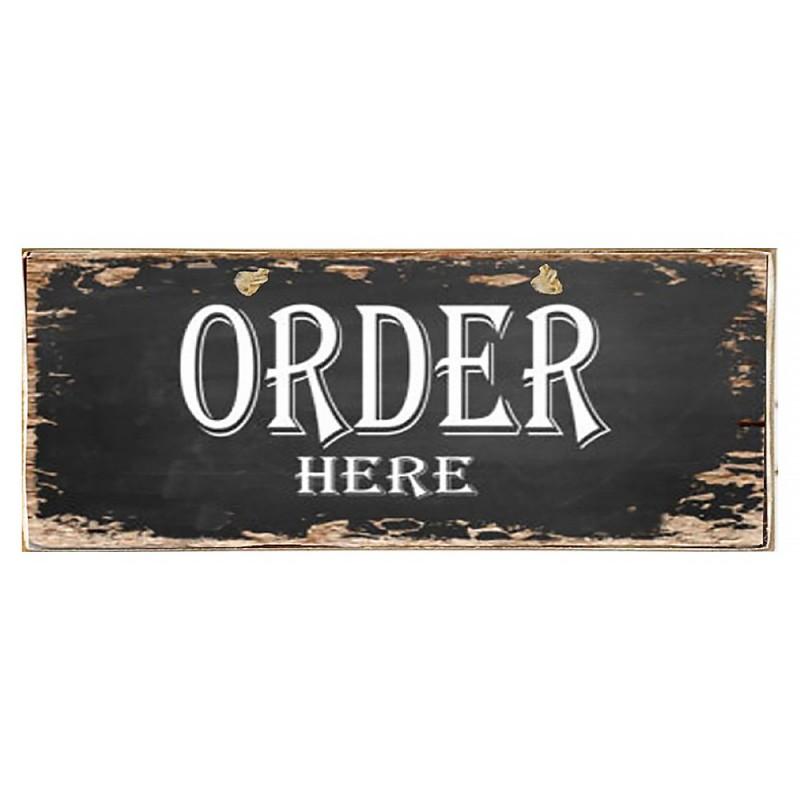 Order Here - Ξύλινος Πίνακας Μαύροπίνακας 13 x 26 cm