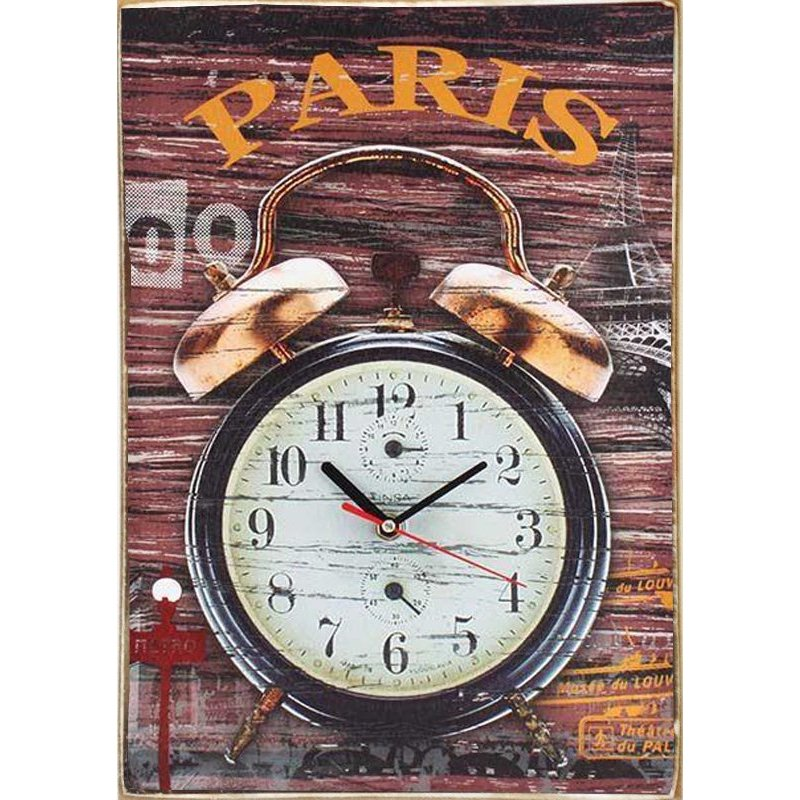 Paris - Ξύλινο Ρολόι τοίχου Χειροποίητο 30 x 40 cm