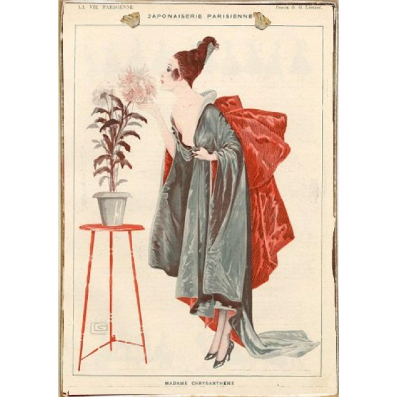 Parisienne Art Ξύλινος Vintage Πίνακας 20 x 30 cm