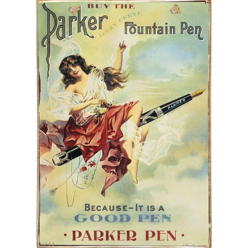Parker Pen -Ξύλινος  Πίνακας Χειροποίητος 20 x 30 cm