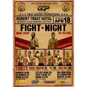 Sign Πίνακας Χειροποίητος Fight Night  21cm X 30cm