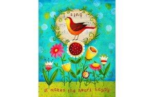 Πίνακας Χειροποίητος Bird Sing