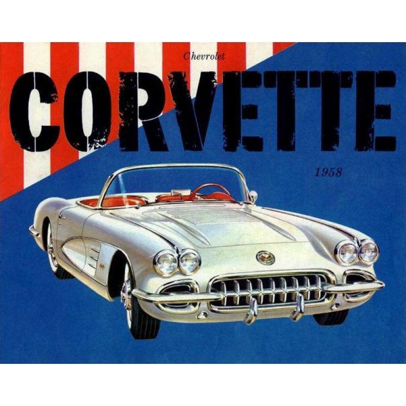 Πίνακας Χειροποίητος Corvette 1958