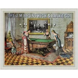 Πίνακας Χειροποίητος ρετρό με τραπέζι μπιλιάρδου