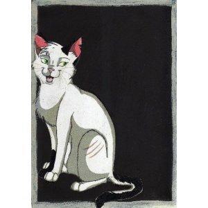 Πονηρή γάτα - Χειροποίητος Μαυροπίνακας 20X30 εκατοσ&tau