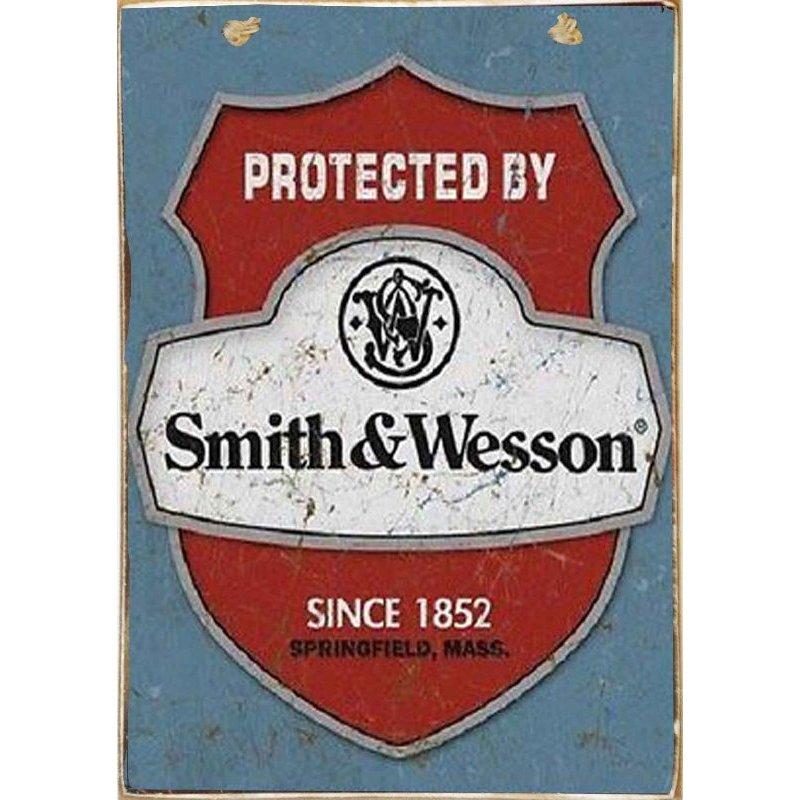 Protected By.. -Ξύλινος  Πίνακας Χειροποίητος 20 x 30 cm