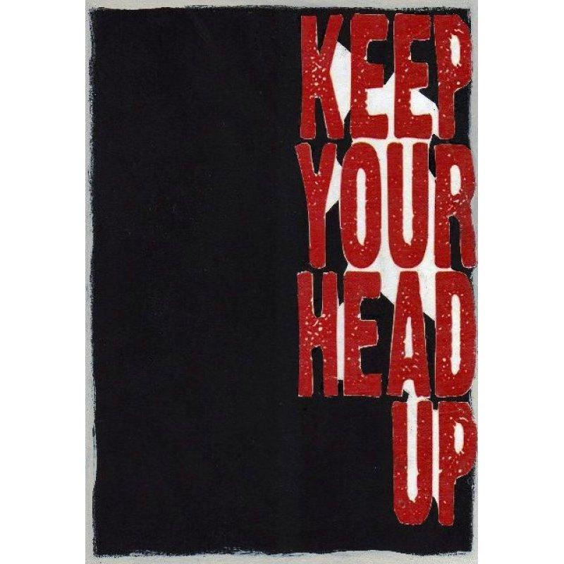 Ψηλά το κεφάλι - Χειροποίητος Μαυροπίνακας 20X30 εκατοστά