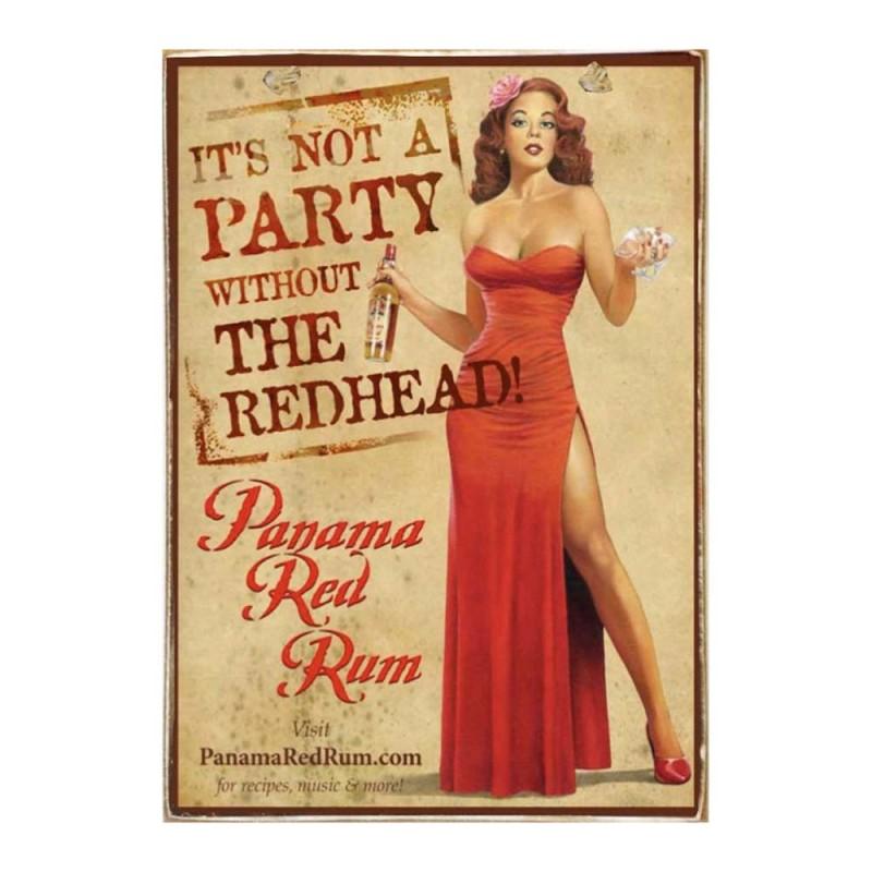 Red Rum -Ξύλινος  Πίνακας Χειροποίητος 20 x 30 cm