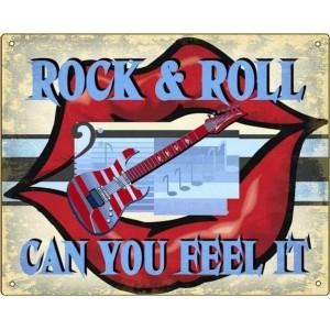 Ρετρό Πίνακας Χειροποίητος 'rock and roll-can you feel it'