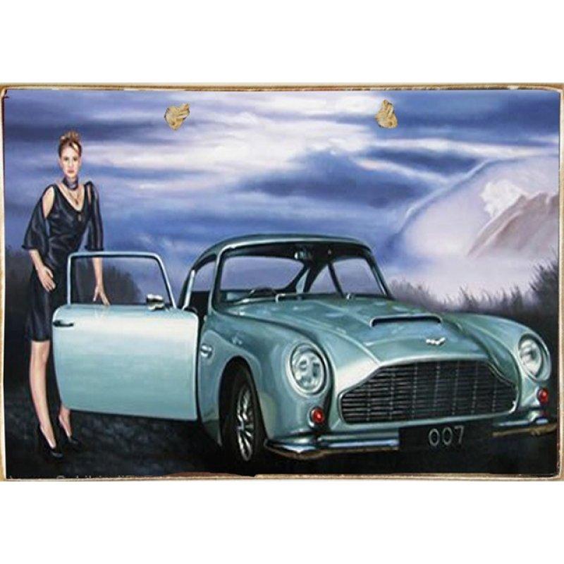 Ρετρό Πίνακας Χειροποίητος 30 x 20 cm