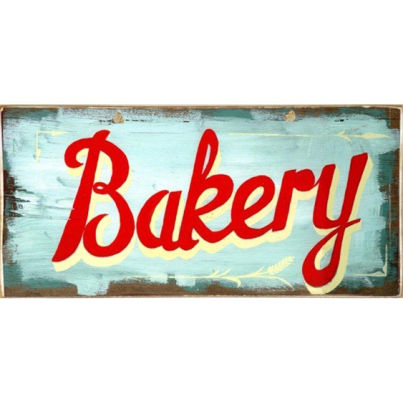 Ρετρό Πίνακας Χειροποίητος Bakery 13 x 26 cm