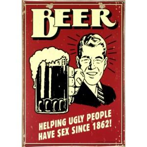 Ρετρό Πίνακας Χειροποίητος Beer 20 x 30 cm
